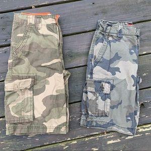 ARIZONA 12 REG Boy's Camouflage Cargo Shorts LOT